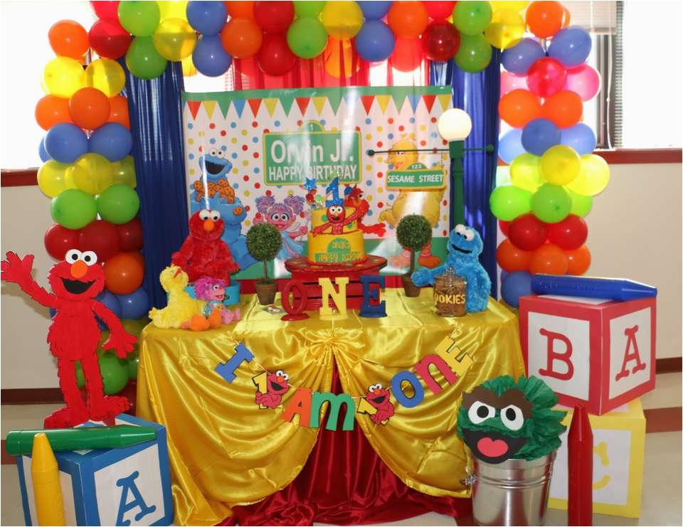 elmosesame street 1st birthday