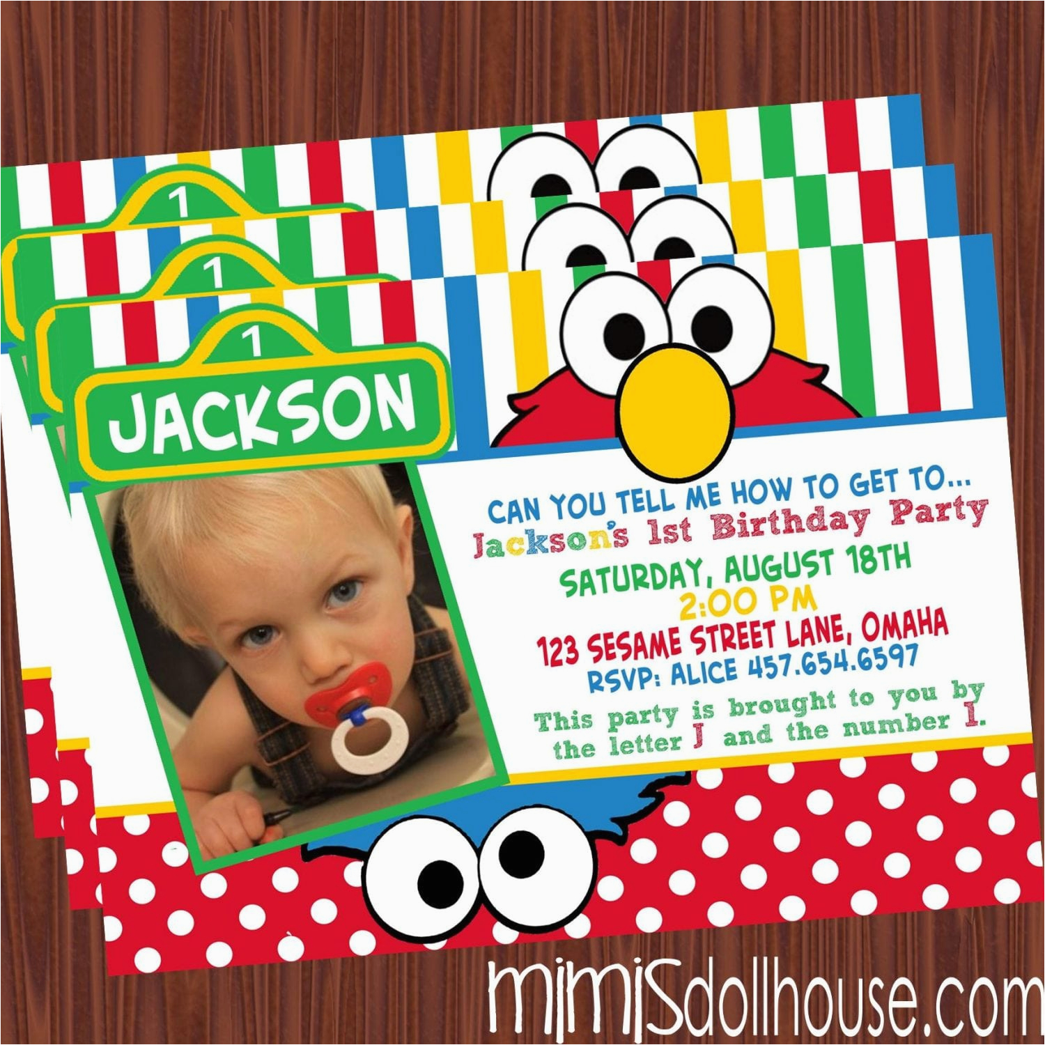 Sesame Street Photo Birthday Invitations Party Printable Collection Mimi 39 S Dollhouse