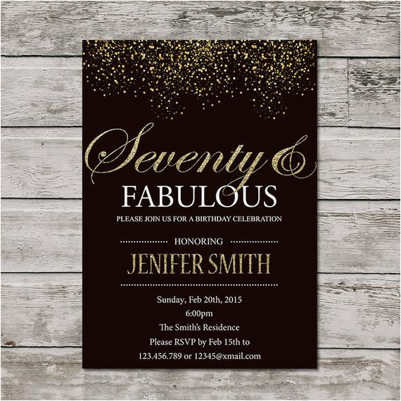 70th Birthday Invitation For Women