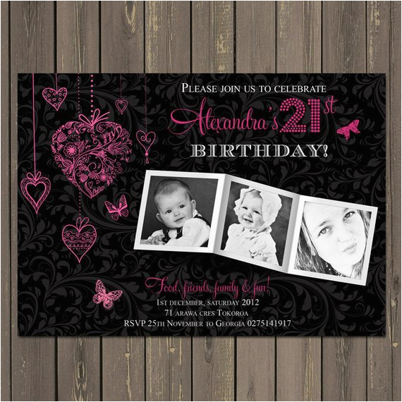 21st birthday party invitation adult