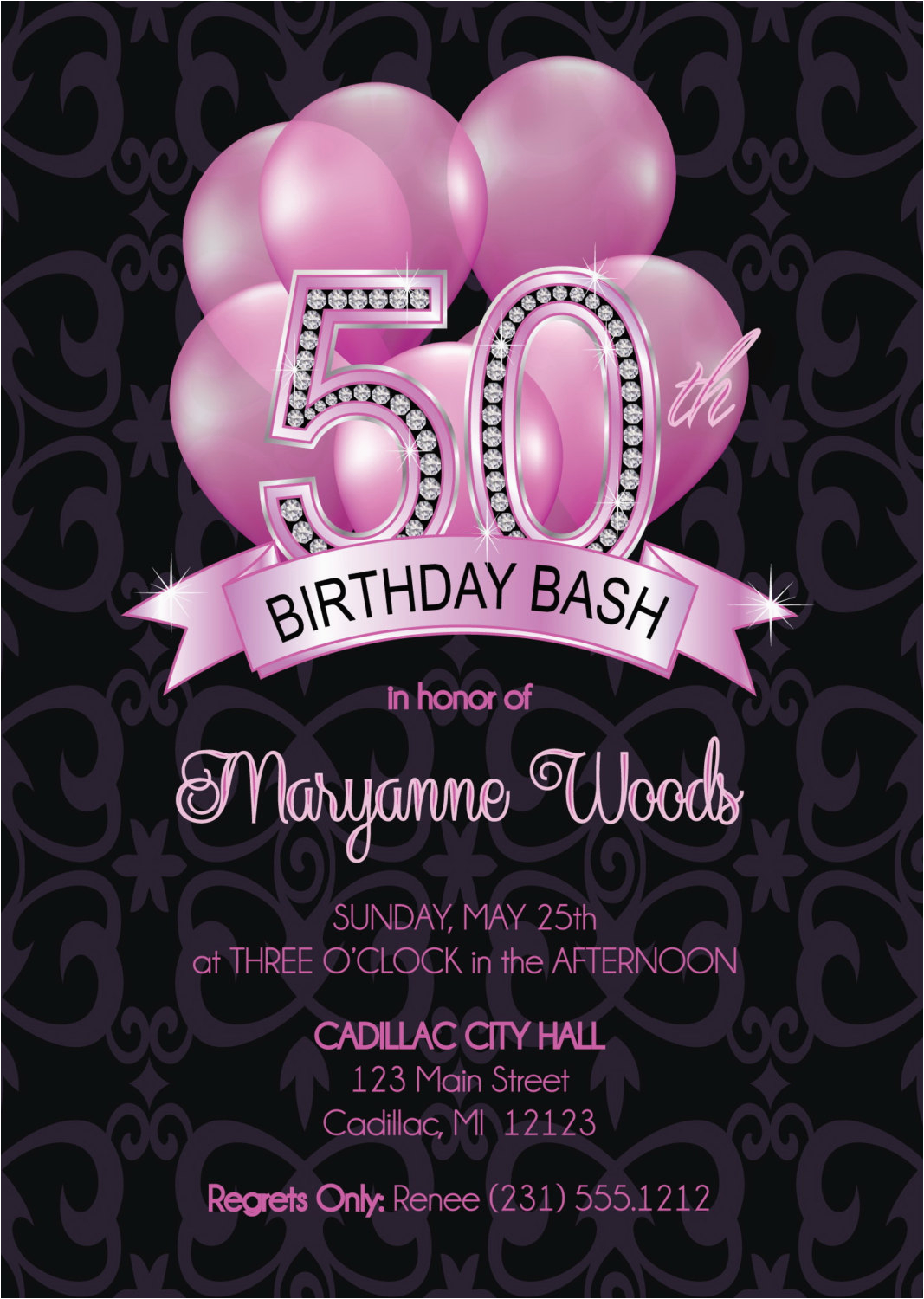 50th birthday invitation adult 50th ref shop home active 19