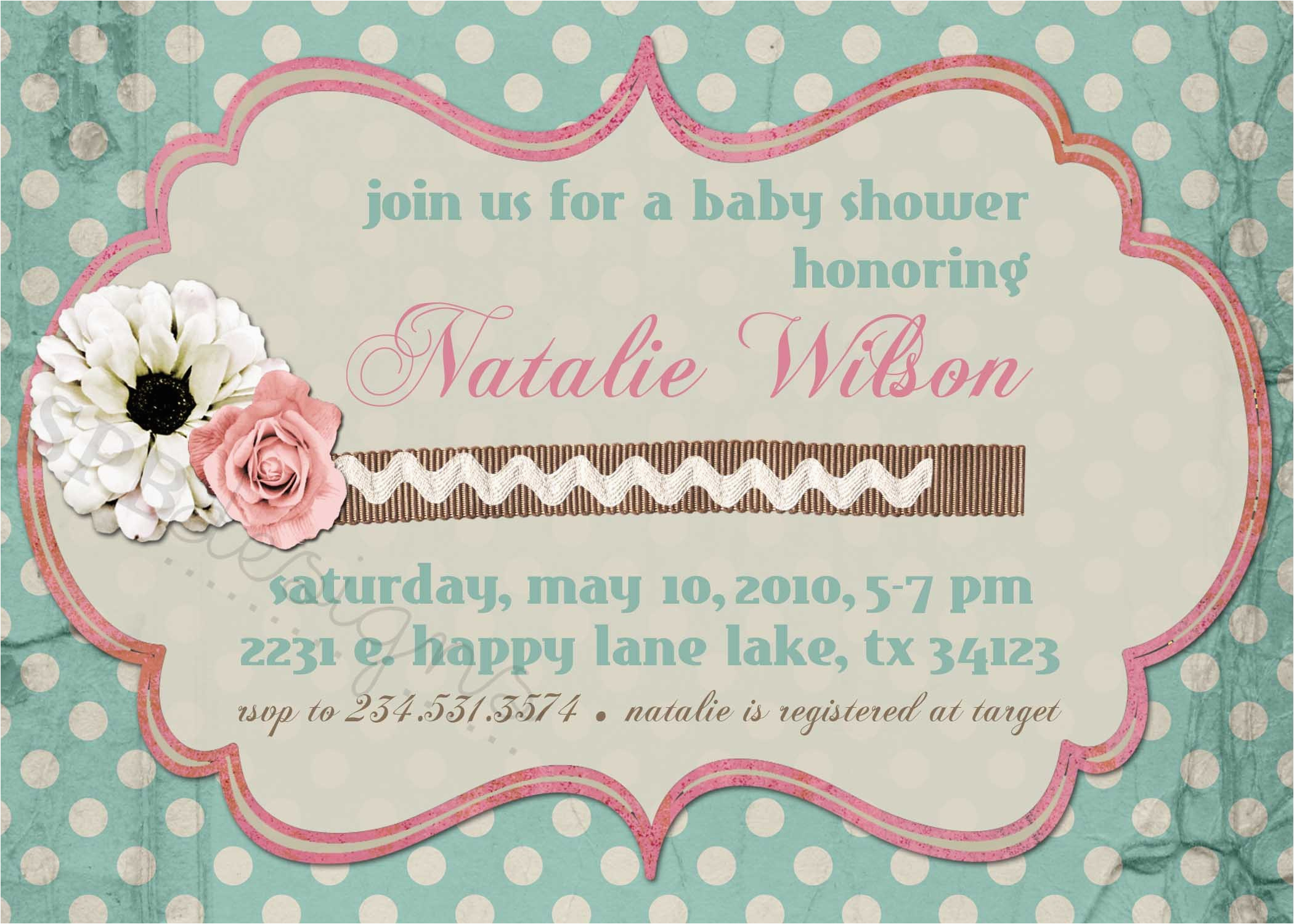 Shabby Chic Birthday Invitation Templates Free Birthdaybuzz