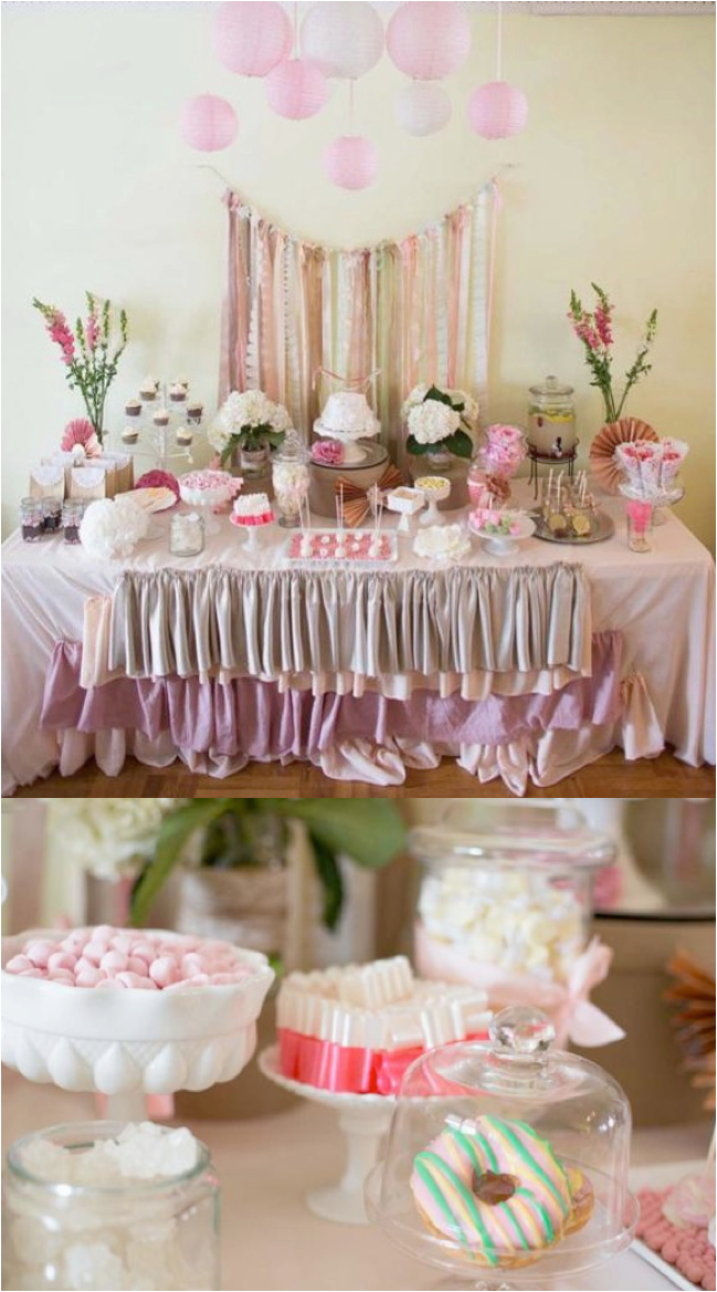 shabby chic lace birthday party