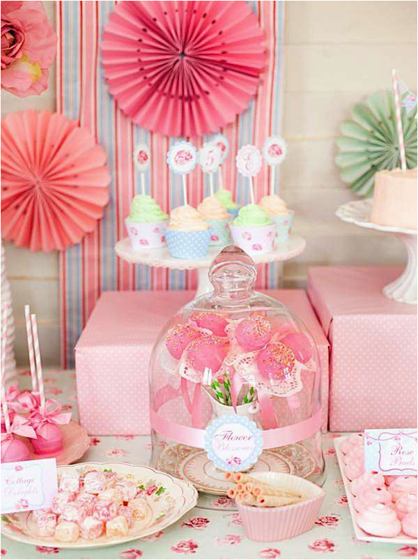 Shabby Chic Birthday Party Decorations Kara 39 S Ideas Princess Girl Pink Vintage