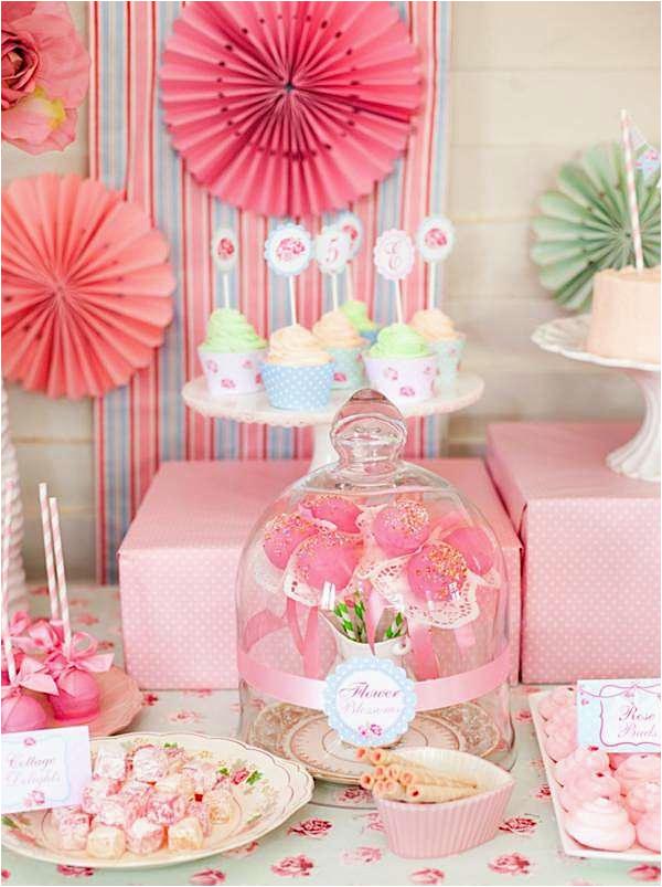Shabby Chic Birthday Party Decorations Kara 39 S Party Ideas Shabby Chic Princess Girl Pink Vintage