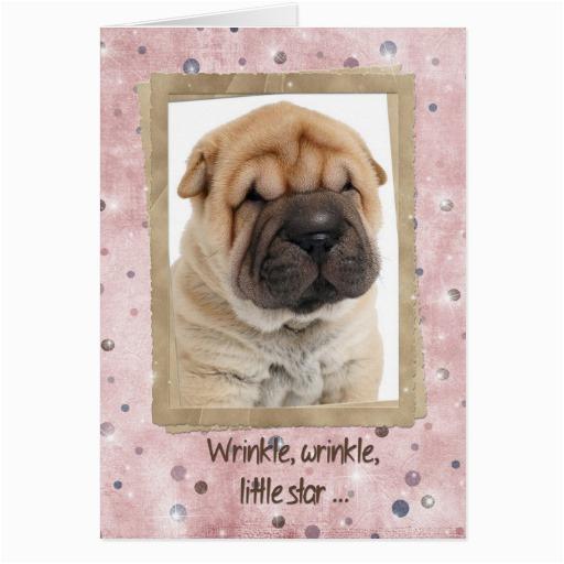 chinese shar pei birthday humor greeting card zazzle