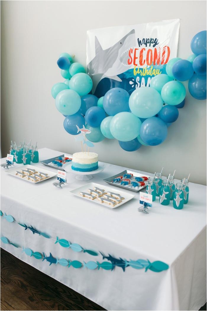 chomp shark themed birthday party