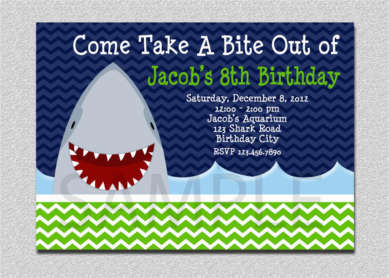 shark birthday invitation shark birthday