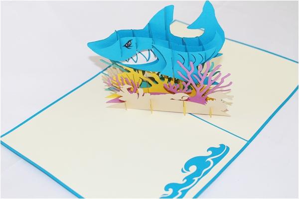 Shark Tank Birthday Cards 3d Shark Tank Greeting Card Gas 0153