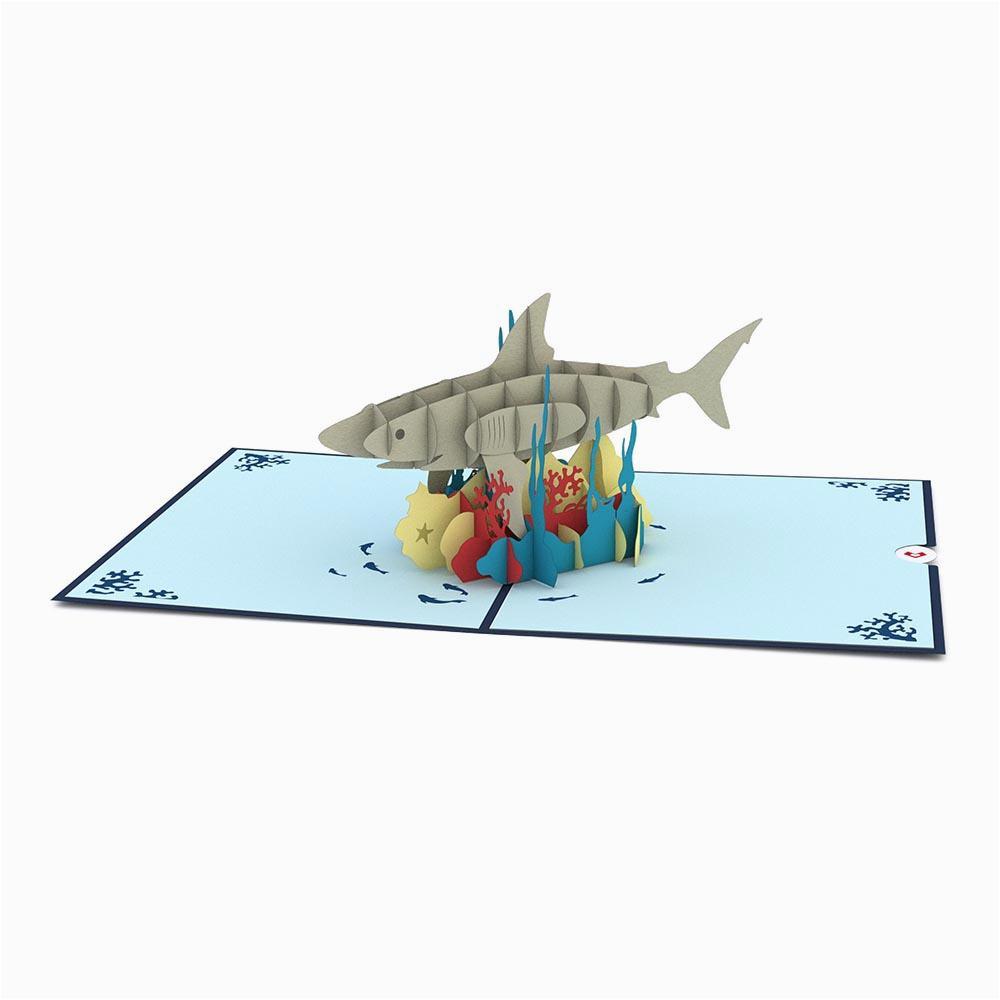 shark pop up birthday card lovepop