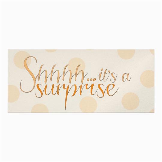 Shhh Birthday Invitations Tangerine Surprise Party Invitation