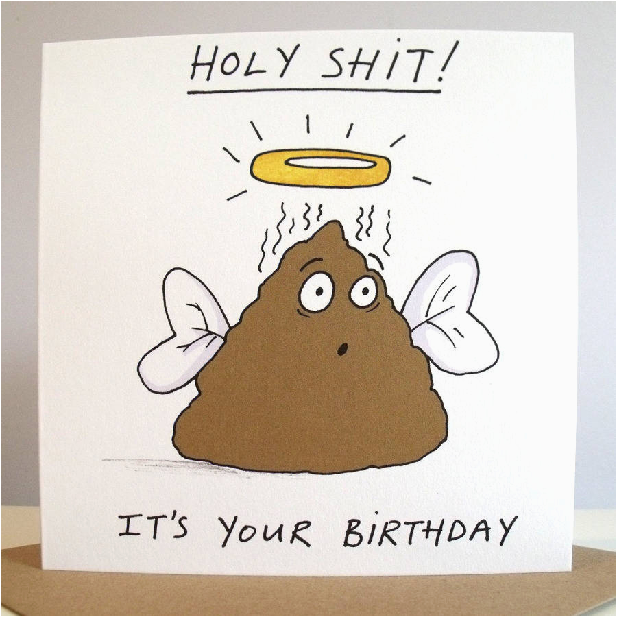 39 holy shit it 39 s your birthday 39 card by cardinky