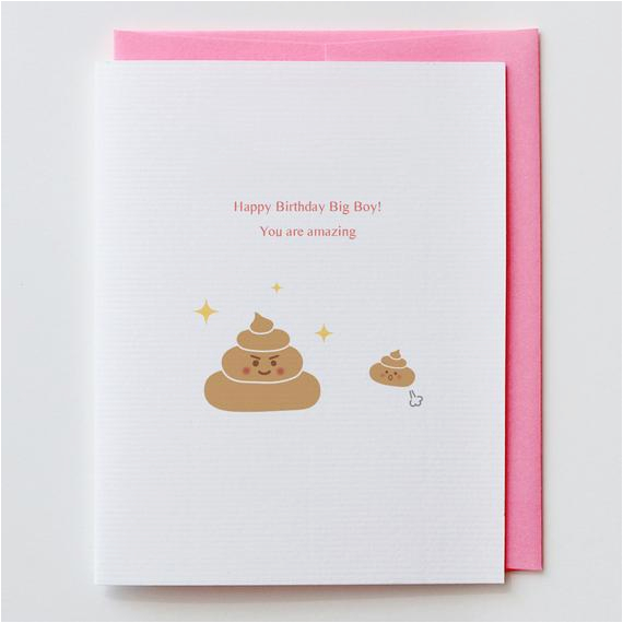 items similar to amazing poop birthday card happy