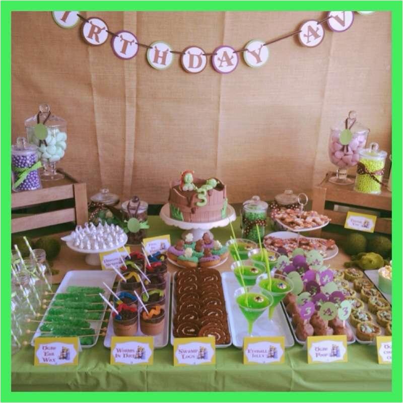 Shrek Birthday Decorations Shrek Birthday Party Ideas Photo 2 Of 5 Catch My Party