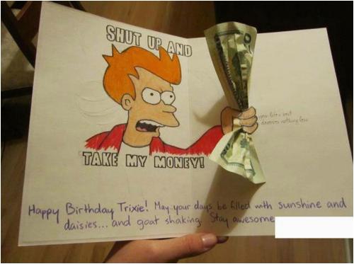 Shut Up and Take My Money Birthday Card Futurama Birthday Card Shut Up and Take My Money