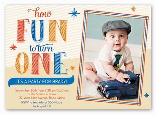 Shutterfly 1st Birthday Invitations Brejer Photo Invitation