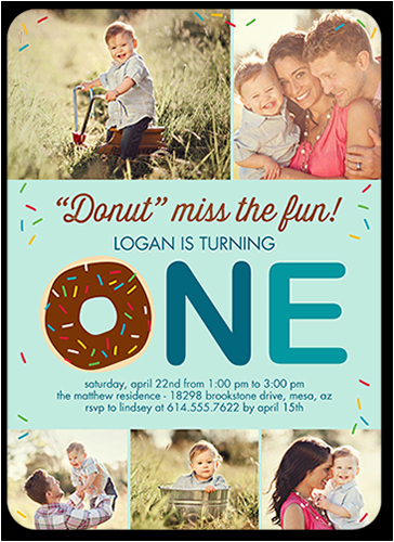 donut miss boy birthday invitation 5x7 flat productcode 1230466 categorycode 60381 skucode 1230467