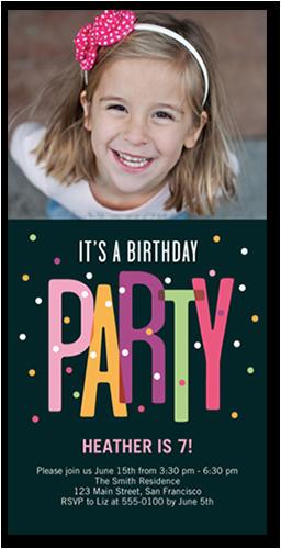 party dots 4x8 teen birthday invitations shutterfly