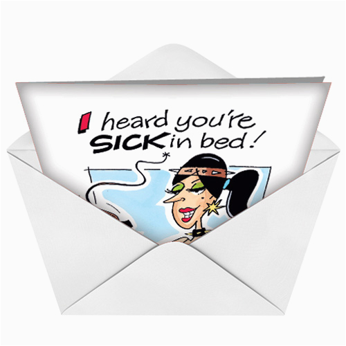 j7834 sick in bed humor get well greeting card donna zahn