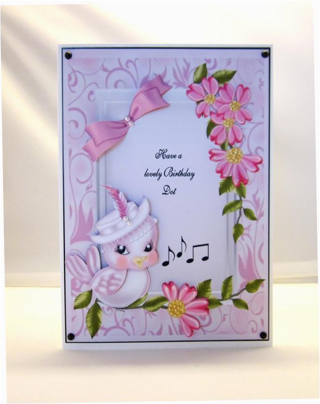 singing bird birthday card