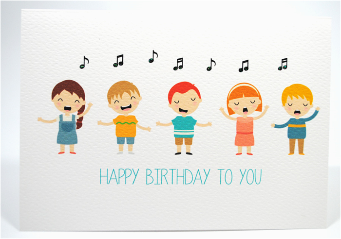 Singing Birthday Cards For Children Happy Card Kids Hbc169