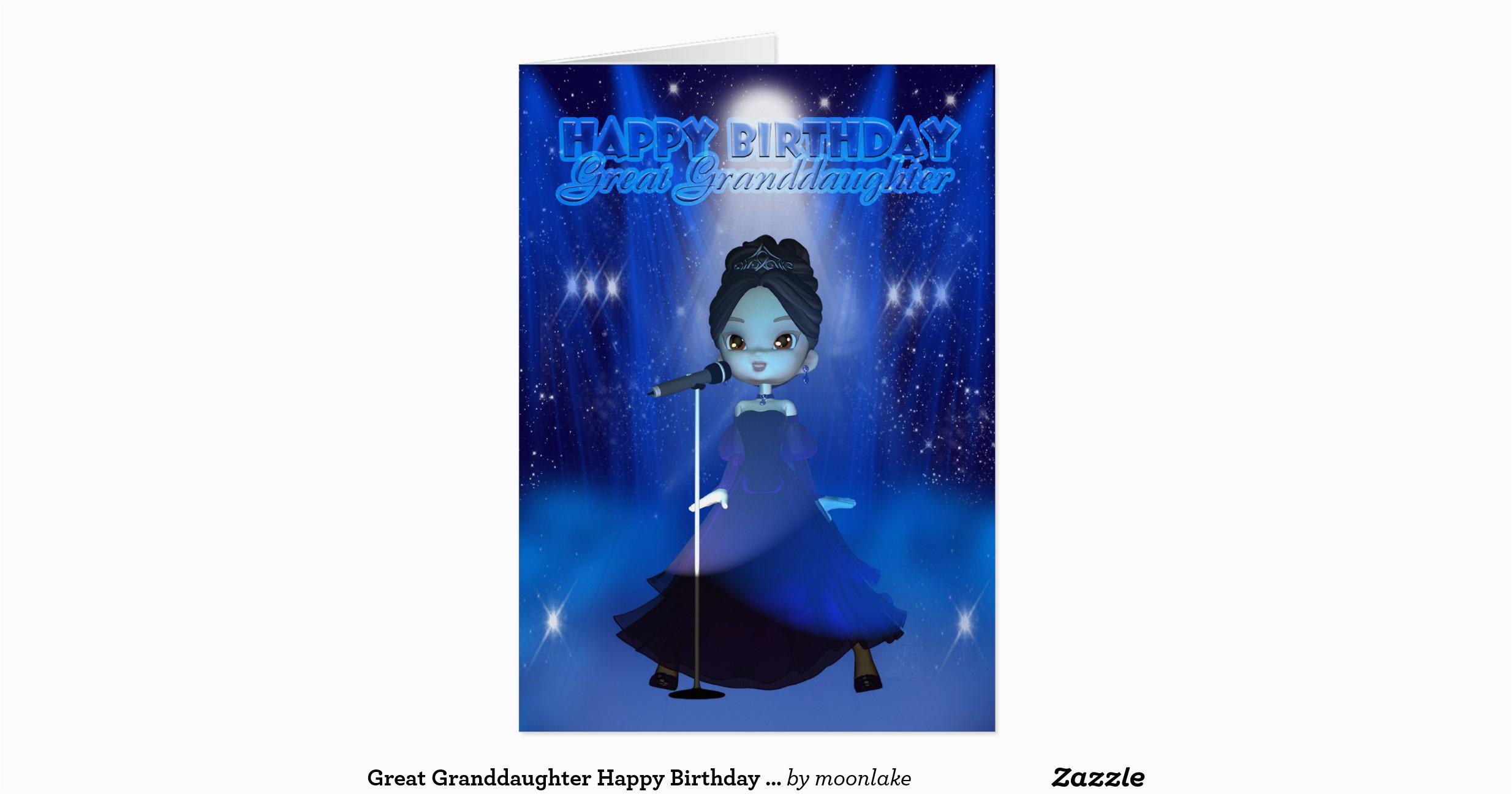 great granddaughter happy birthday singing deva cu card 137994361742028359