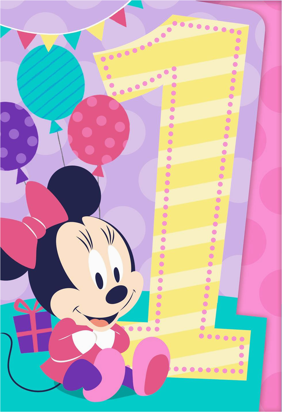 minnie mouse musical 1st birthday card greeting cards