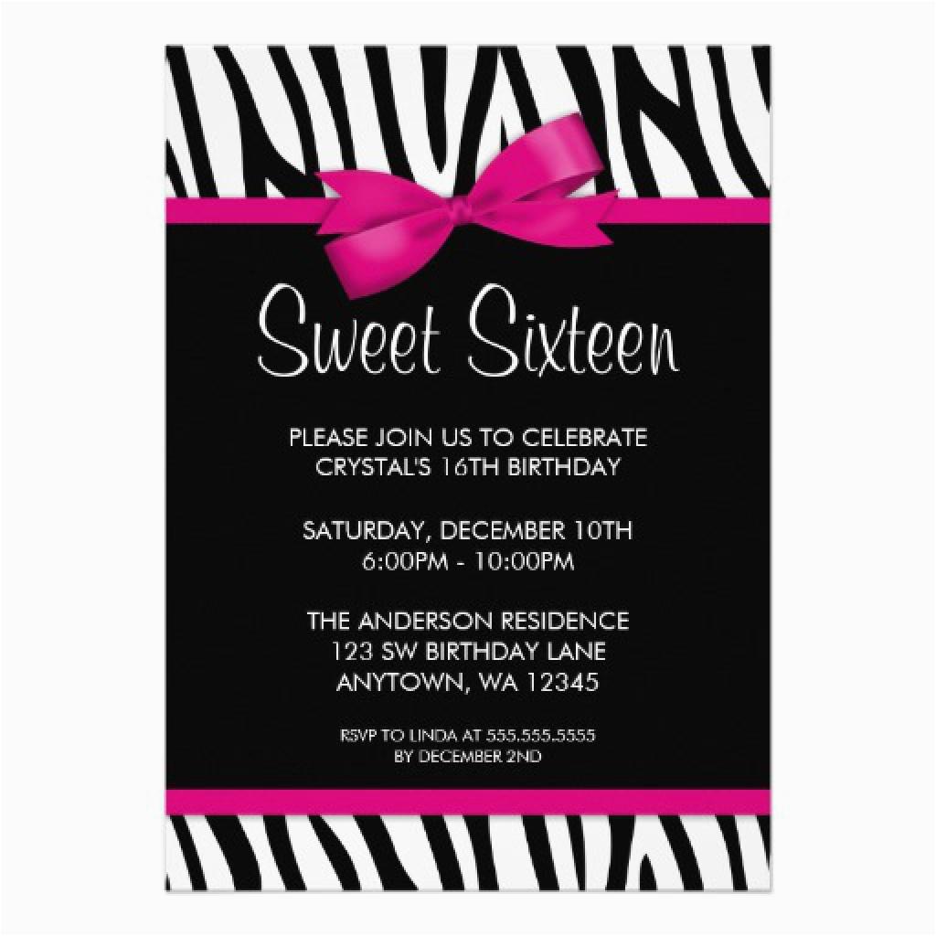 Sixteenth Birthday Invitations Sweet 16th