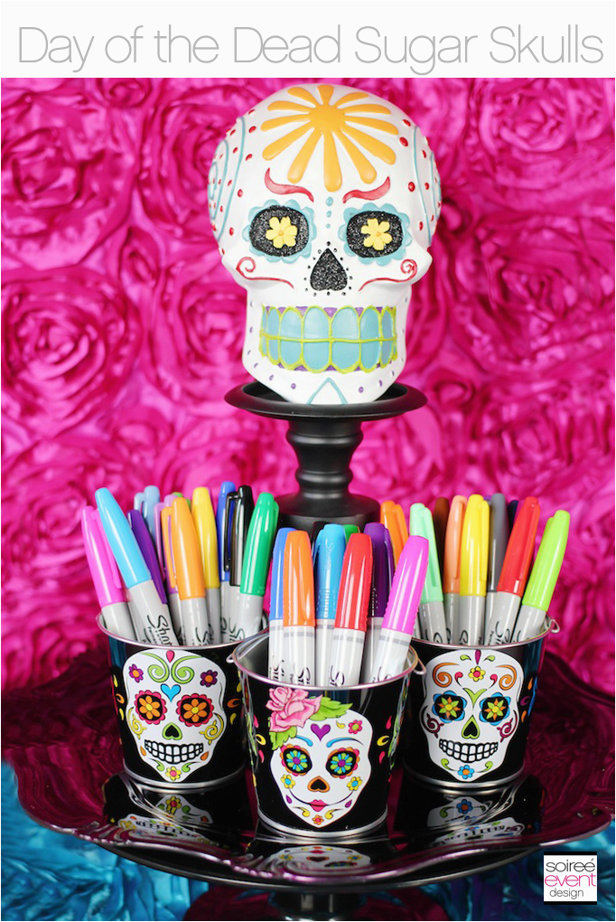 how to make day of the dead sugar skulls party decorations