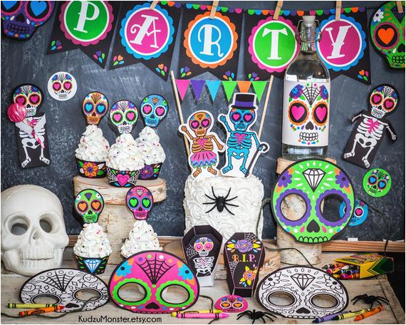 punk sugar skull day of the dead party