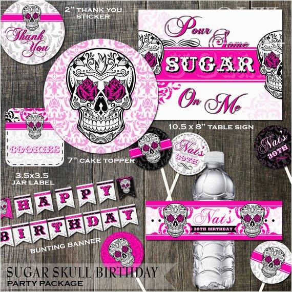 sugar skull birthday party decoration
