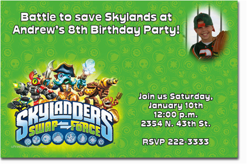 Skylander Invitation Wording Party Invitations Ideas Skylanders Game Inspired Birthday