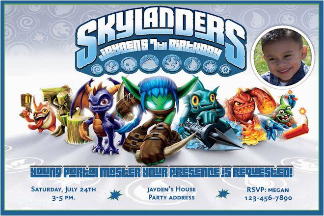 Skylander Birthday Invites Skylanders Game Inspired Invitations