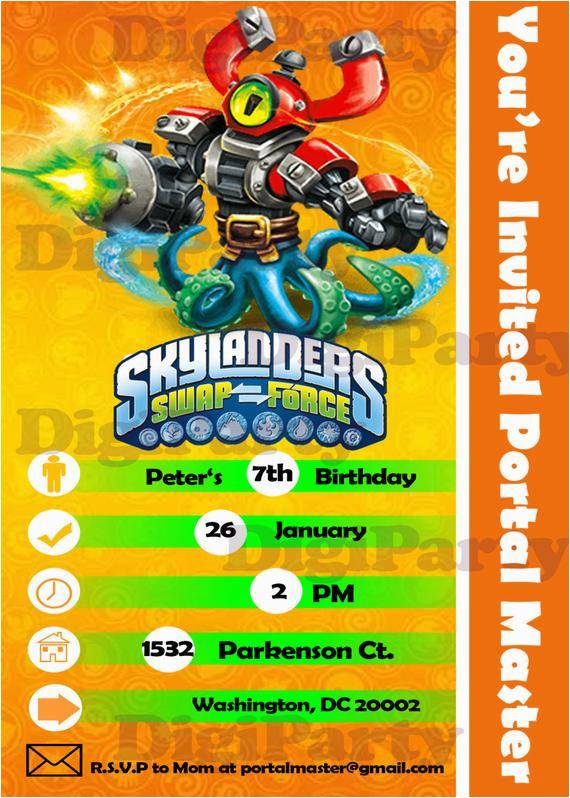 skylanders swap force birthday party