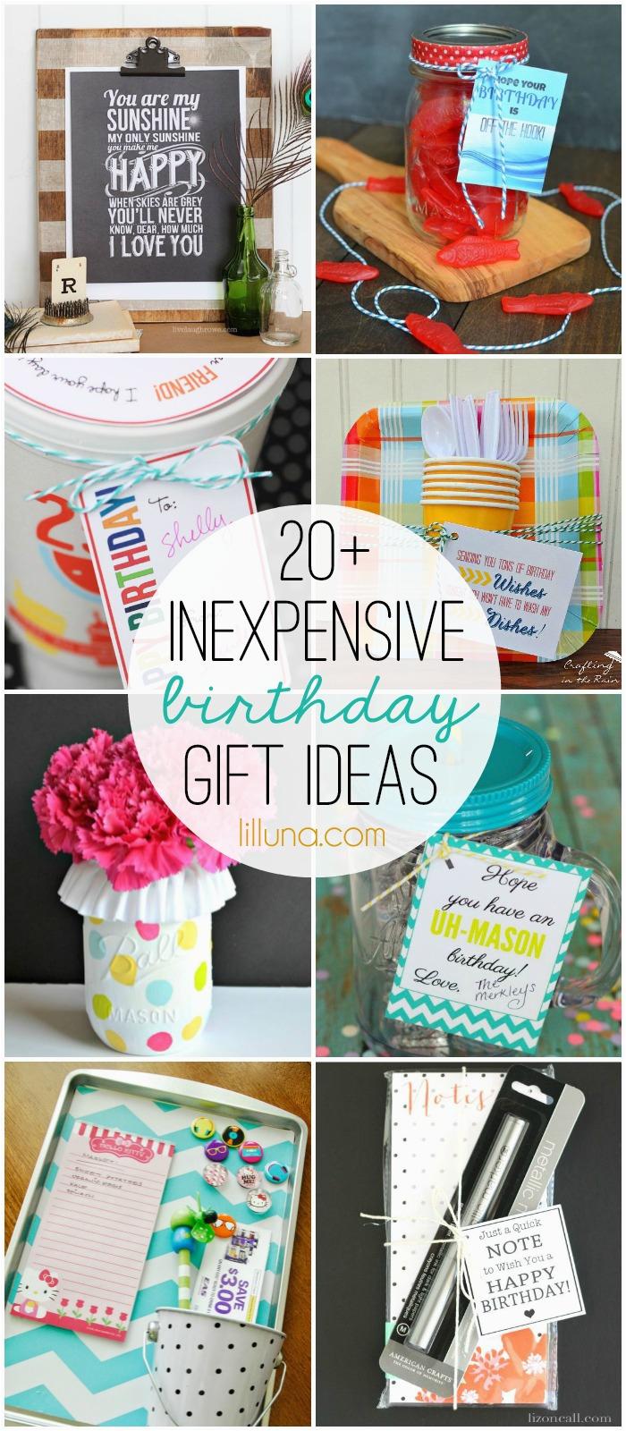 inexpensive birthday gift ideas