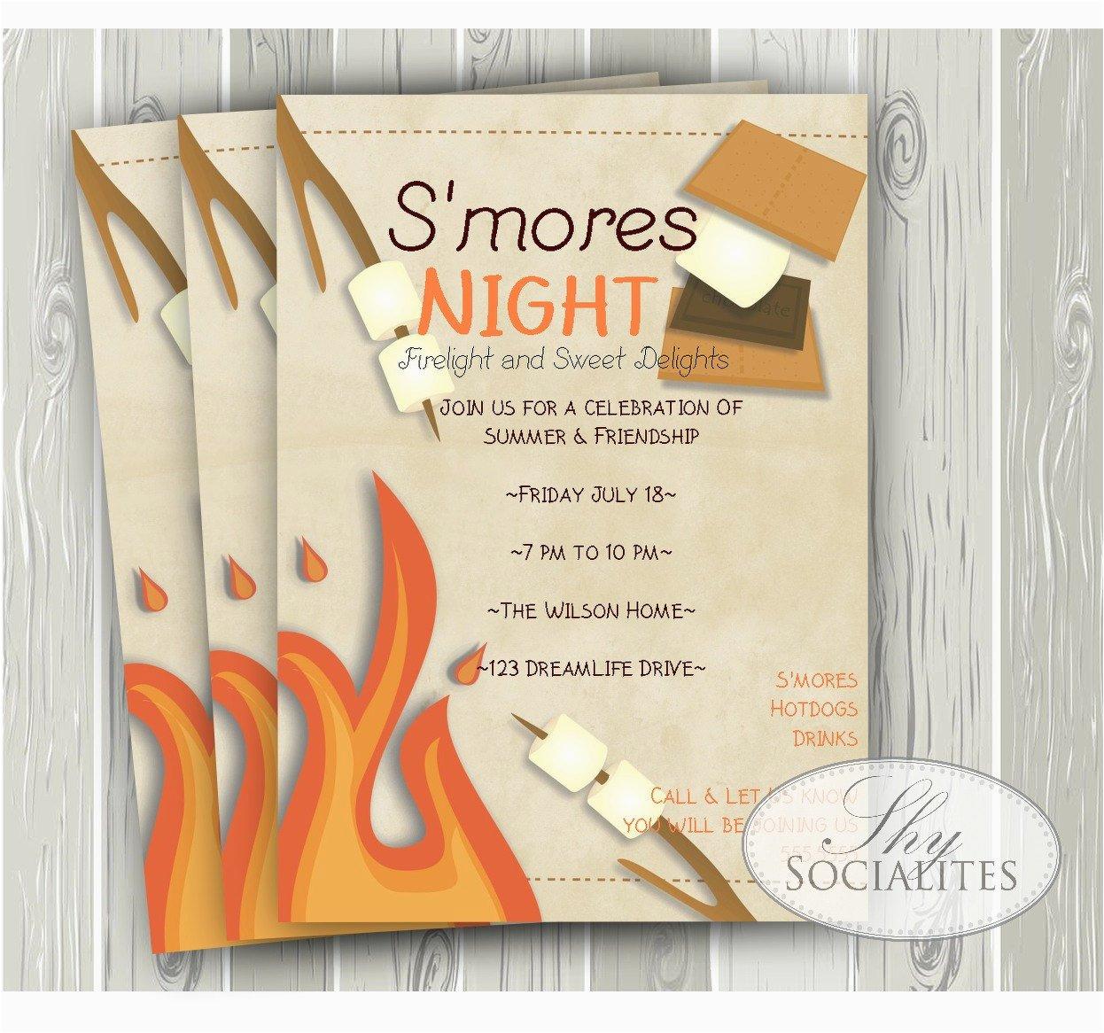 Smores Birthday Party Invitations S 39 Mores Invitation