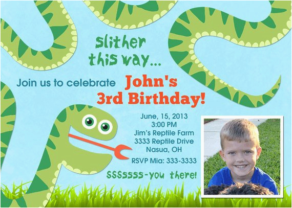 Snake Birthday Invitations Party Printable By Pop