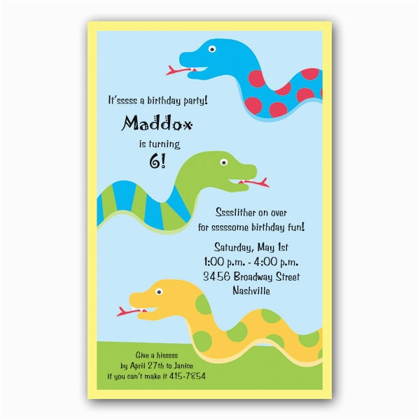snake party invitations clearance p 261 i355