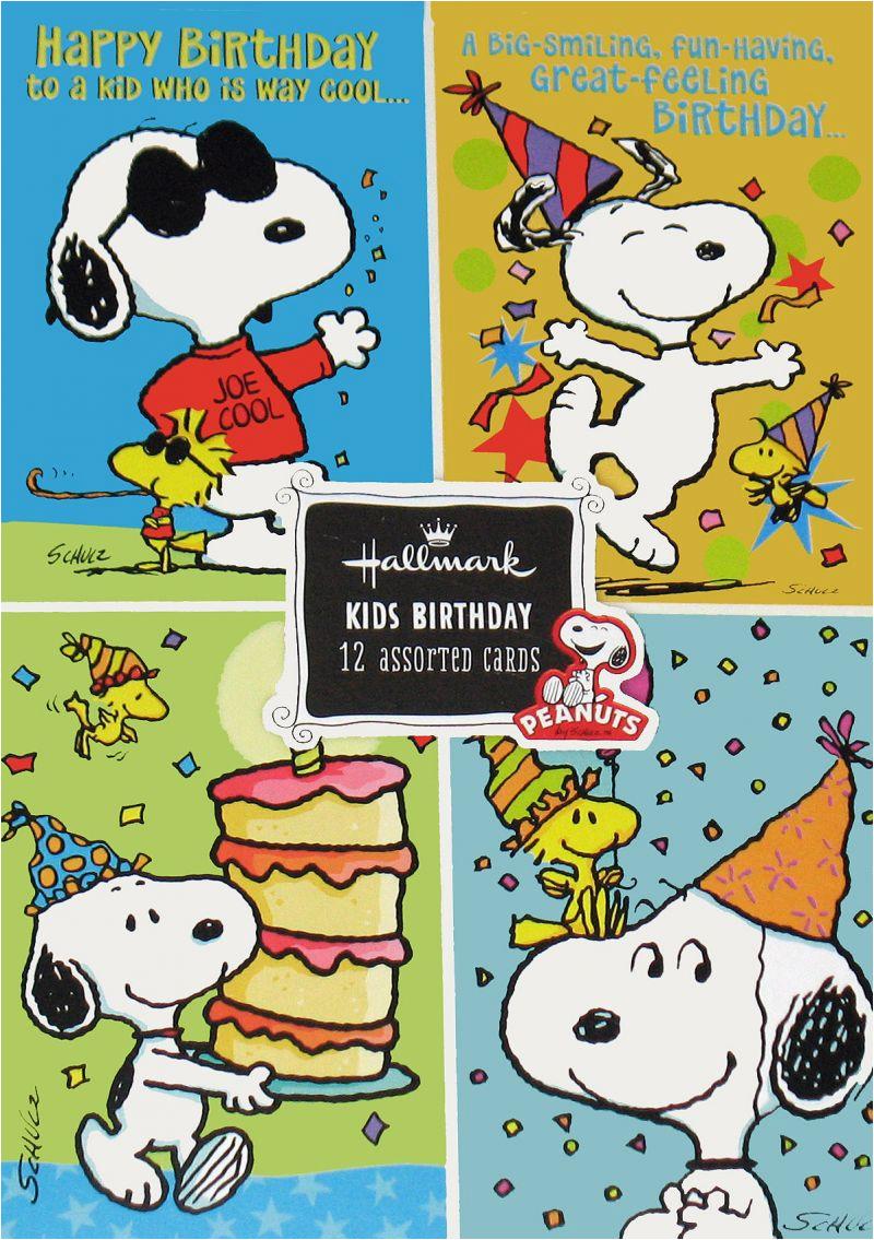 Peanuts Gang Kids Birthday Cards Boxed Set 660944