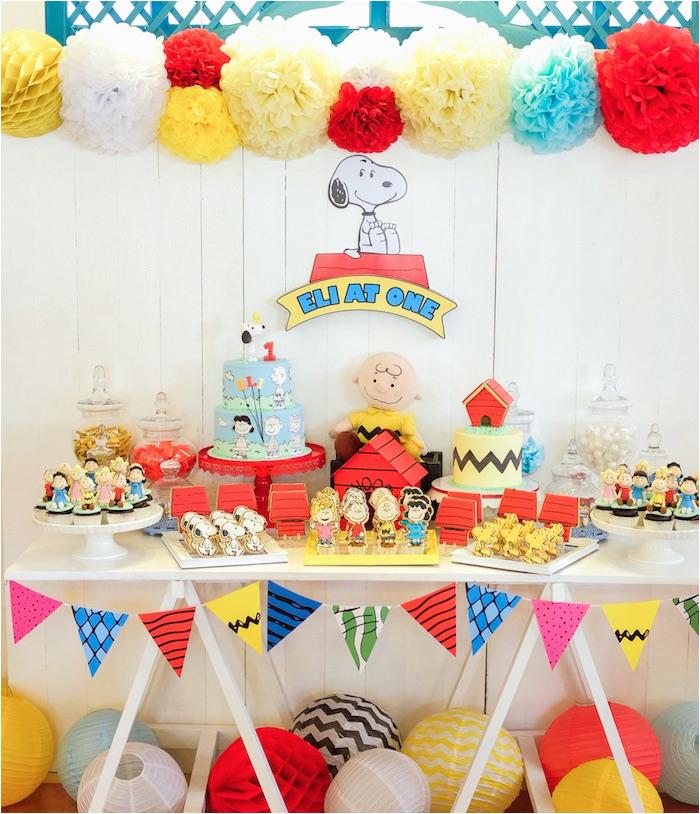 peanuts snoopy birthday party