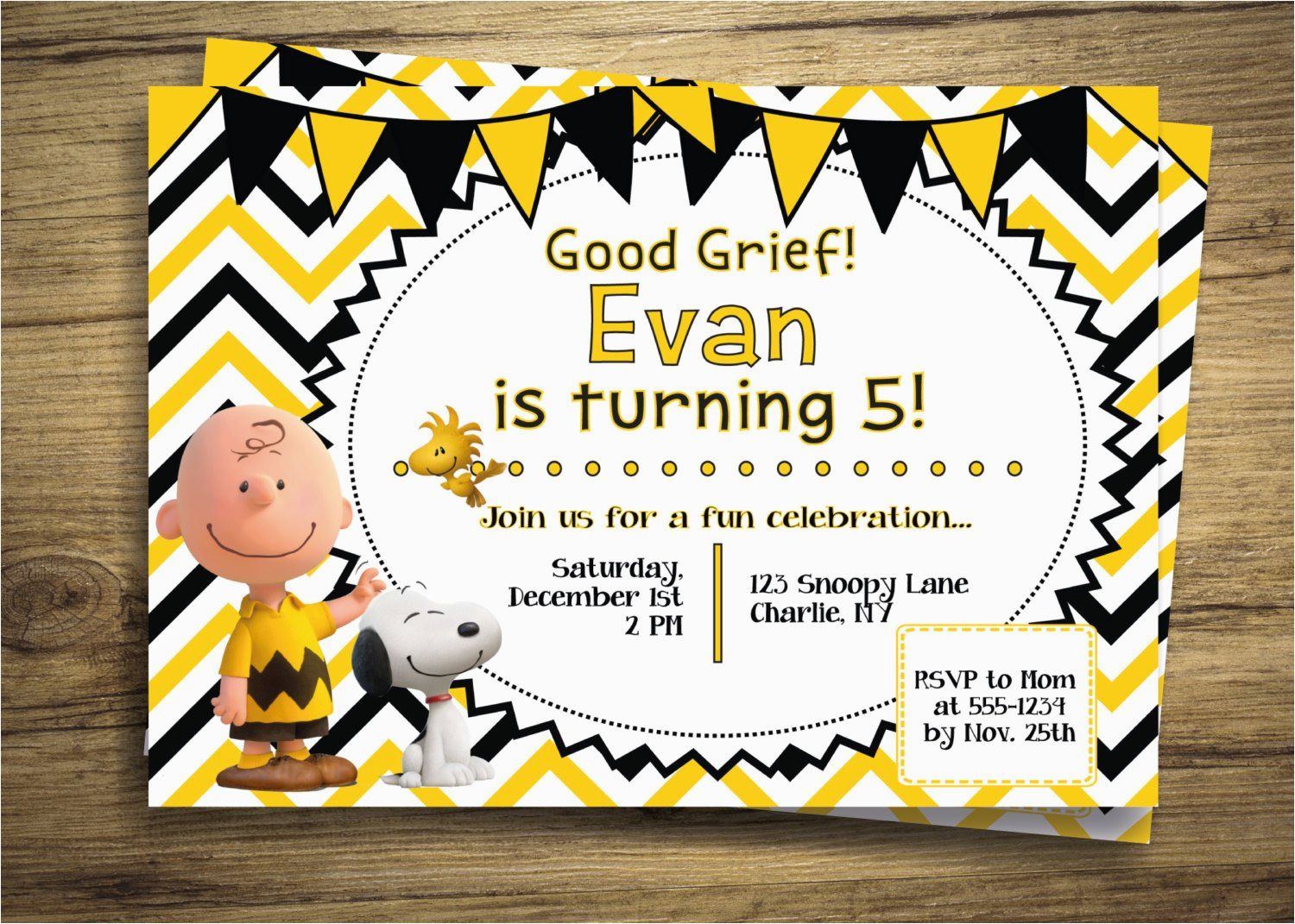 charlie brown snoopy birthday party