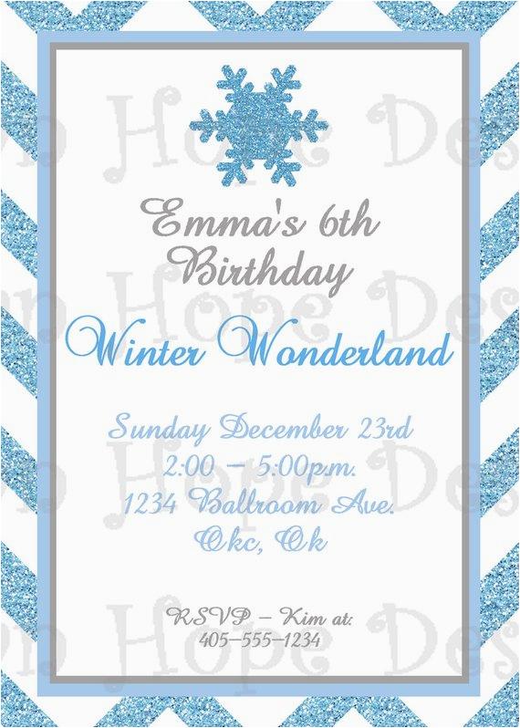 winter wonderland invitation winter wonderland birthday