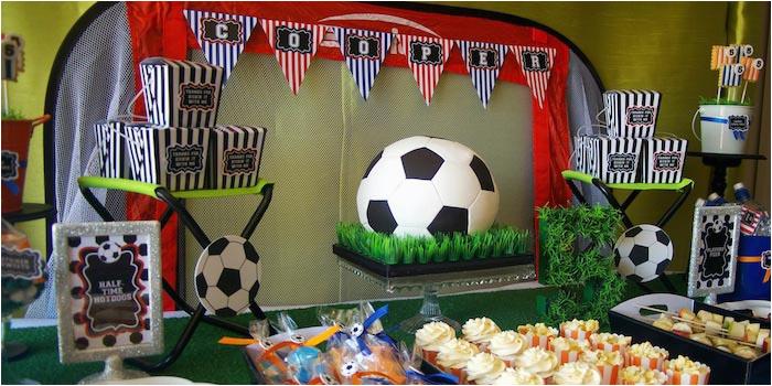 kickin soccer themed 5th birthday party