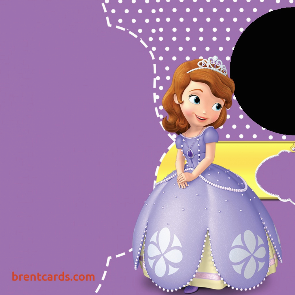 Sofia The First Birthday Card Template Create Cards With Photos Free Design