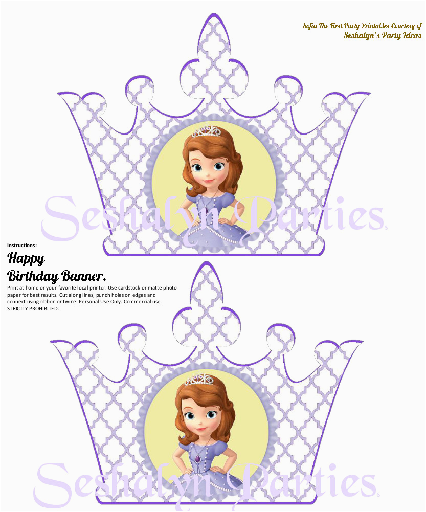Sofia The First Birthday Card Template Invitation Free