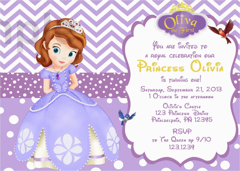 sofia the first birthday invitation card template free d8804dfe0685efa7c3fb2e5268a608a6