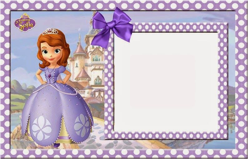 Sofia The First Birthday Card Template Free Printable Invitations Cards Or Photo