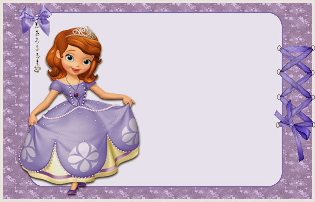 Sofia The First Birthday Card Template Free Printable Invitations Or Photo Frames