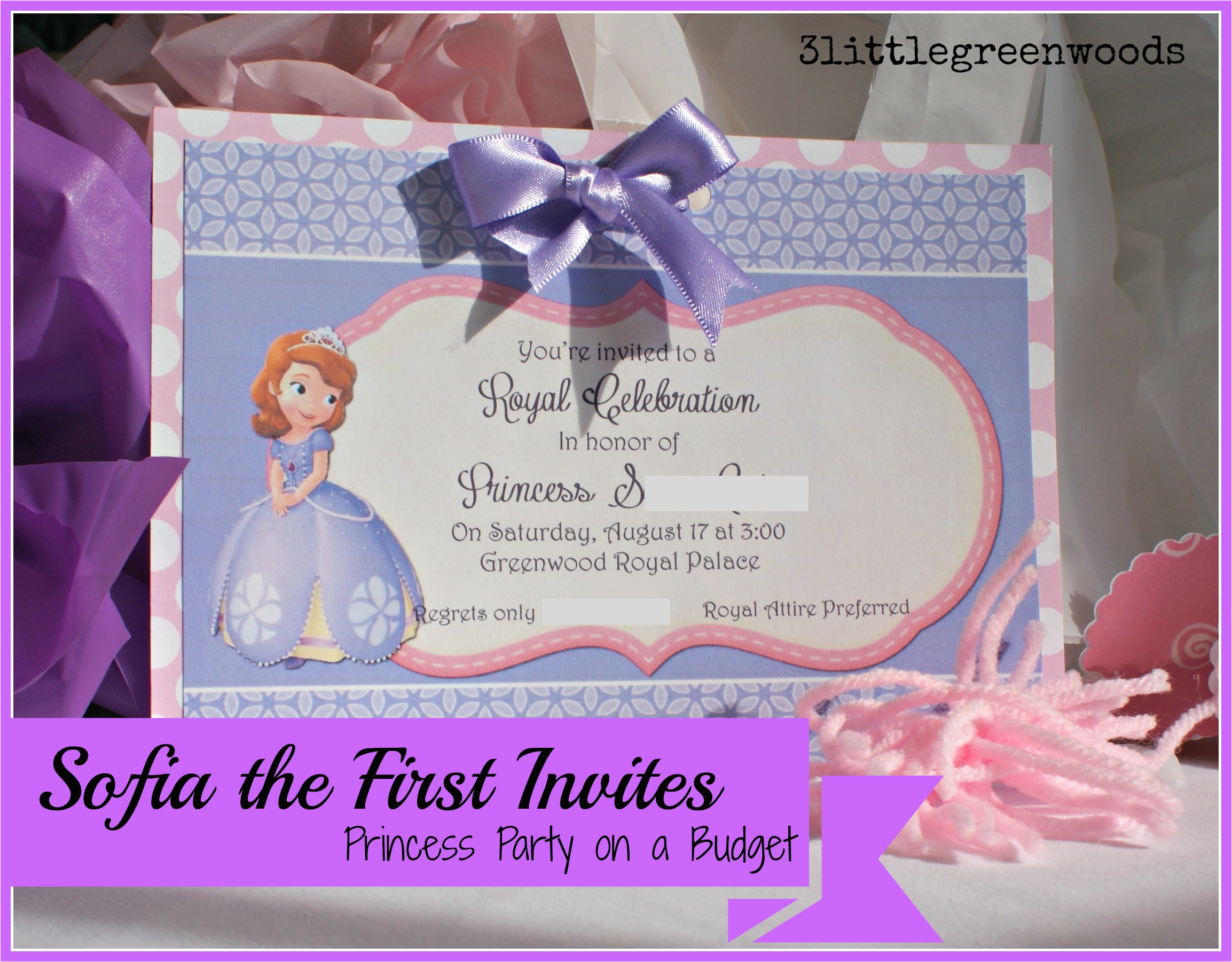 sofia the first birthday invites princess party on a budget