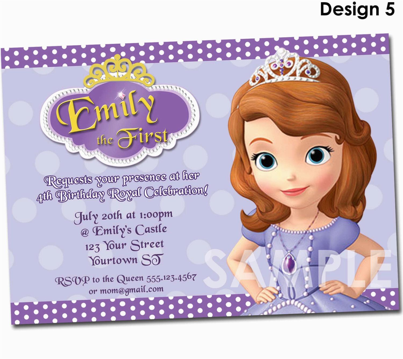 Sofia The First Custom Birthday Invitations Invitation Printable Party Invite
